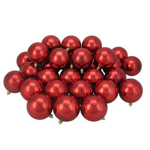 "32ct Red Hot Shatterproof Shiny Christmas Ball Ornaments 3.25"" - $59.95"