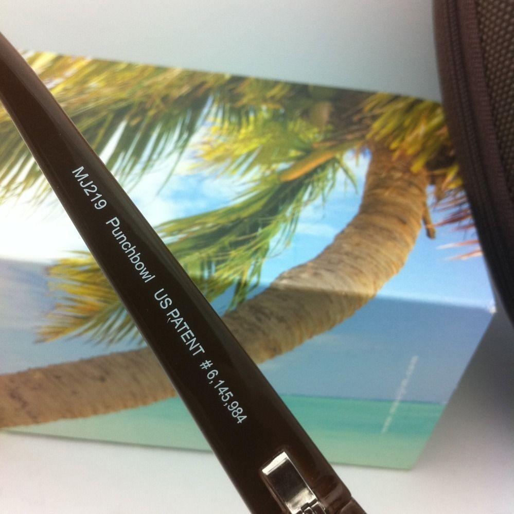Maui Jim Occhiali da Sole Polarizzati Punchbowl Mj 219-01 Cioccolato, W / Rosa