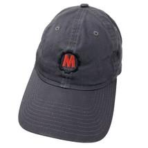 Letter M Cog Logo Black New Era Adjustable Adult Ball Cap Hat - $12.86
