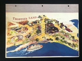 DISNEYLAND Concept Art Lithograph 60th VIP Gift 9x12 1954 Frontierland Overview - $23.02