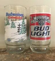 1995 Vintage Set of 2 Budweiser Clydesdale Horse Glass  & Bud Light - $8.99