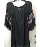 MAX EDITION  Embroidered Cotton Shift Boho  Dress SMALL NWT  - $21.46