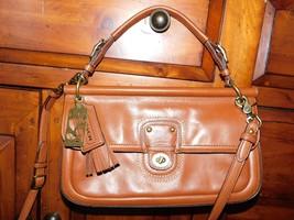 Coach Legacy City Willis BritishTan Leather Cross Body Bag 22062 Great Bag - $64.99