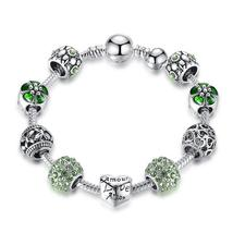 Hot Sale Silver Love Forever Amor Amour Charm Bracelet 4 8RA - $11.44