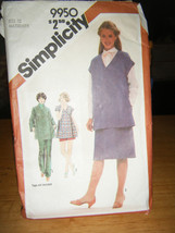 Simplicity 9950 Maternity Front Wrap Top, Skirt, Pants & Shorts Pattern - Sz 12 - $8.02