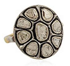 0.75Ct Antique Cut Diamond Silver Art deco Vintage Reproduction Ring LY27694 - $289.25