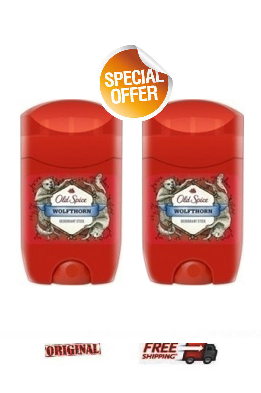 SPECIAL OFFER 2 X Old Spice Wolfthorn Deodorant stick for men 2 X 50ml
