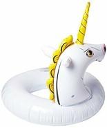 Wham-O Splash Unicorn Pool Float 8.3 x 7.4 x 2.3 inches White and Yellow... - $11.65