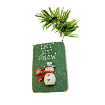 Snowman Wall Hang Wooden Board Sign Handcrafted Holiday Greeting Christm... - $4.92