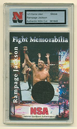 Rampage Jackson Fight Used Glove Cut 1 of 1 Card by NSA with Certificate of Auth