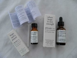 "PAIR OF FACIAL SERUMS ""WHEN HOPE IS NOT ENOUGH ""& HOPE AND A PRAYER"" - $24.74"