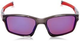 Nuovo Oakley Polarizzati Chainlink OO9247-10 Grigio Rosso IRIDIO Occhiali da - $99.75