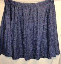 Lane Bryant NWOT Women's Plus Sz 28 Blue Jean 100% Cotton Skirt - $24.18
