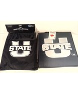 UTAH STATE UNIVERSITY AGGIES STADIUM SEAT PAD CUSHION & DRAW STRING SACK... - $20.00