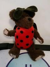 "Boyds Bears LADY BUGS Ladybug Costume Bear Brown 11"" Jointed Plush 1999 - $9.89"