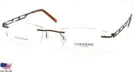 NEW LUMIERE EYEWEAR 8603 C3 BRONZE EYEGLASSES GLASSES RIMLESS 51-19-140 ... - $63.21