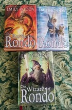 Emily Rodda x3 The Key to Rondo Wizard of Rondo Battle for Rondo Hardcover - $34.49
