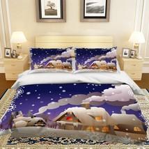 3D Christmas  Xmas 30 Bed Pillowcases Quilt Duvet Cover Set Single Queen King AU - $64.32+