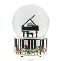 Grand Piano Musical Glitter Globe NEW - $56.97
