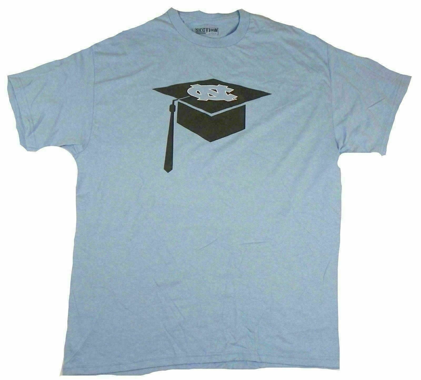 Large North Carolina Shirt Men's Majestic Tee Tar Heels T-Shirt Graduate Hat