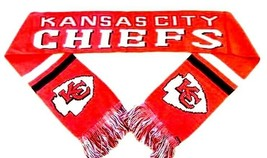 """Kansas City Chiefs Knit Scarf Nfl Express Red Team 68"""" By 7"""" Brand New - $15.99"""