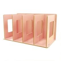 Trycooling 4 Slots Freestanding DIY Desktop Organizer Rack Wood Board Sh... - $28.43