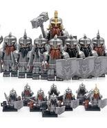 Dwarves Warriors Dain Ironfoot The Dwarf Army The Hobbit 8pcs Custom Min... - $15.99