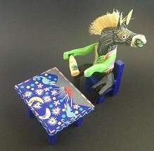 "Alebrije Oaxacan Horse Drinking Tequila Wood Carving Mexico Signed 7.5"" - $68.50"