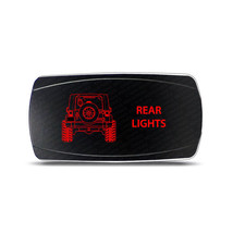 Rocker Switch Jeep Wrangler JK Rear Lights Symbol - Horizontal - Red LED - $16.44
