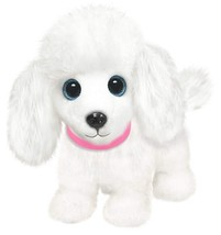 "First & Main 7"" White Wuffles Poodle Puppy Dog Basic Plush Toys - $11.02"
