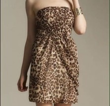 Gossip Girl Romeo & Juliet Couture Large Strapless Leopard  Chiffon Dres... - $23.10