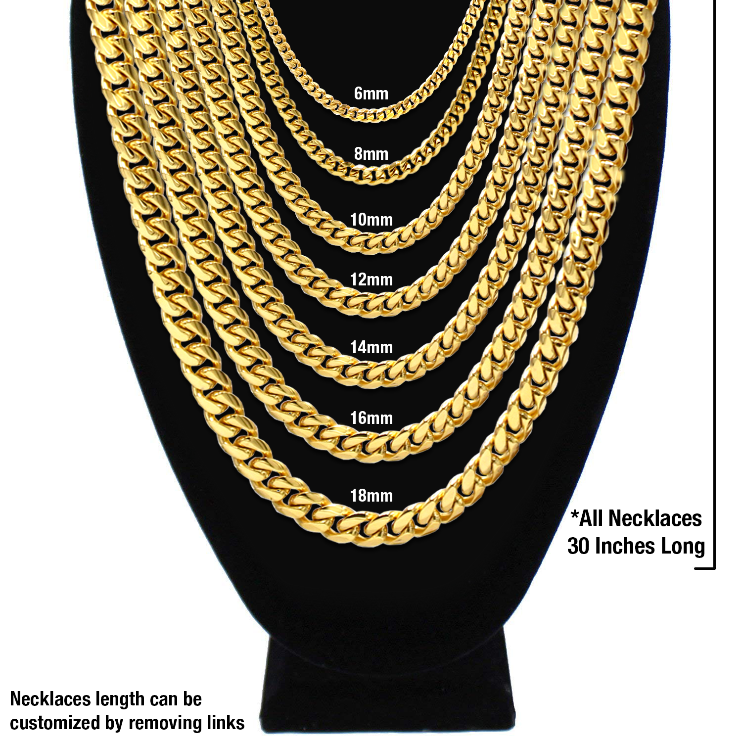 f044b772827ff Cuban Link Chain 18k Gold Plated 8 mm and 50 similar items