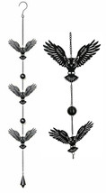 Whimsical Alchemy Sorcerer Night Goth Owls Metal Wall Hanging Mobile Win... - $21.99
