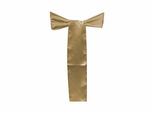 Elina Home Pack of 50 Satin Chair Cover Bow Sash Wedding Banquet Decoration (50,