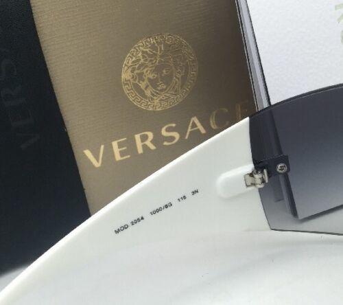 Neu Versace Sonnenbrille Ve 2054 1000/8G 115 Gunmetal & Weiss W / Grau