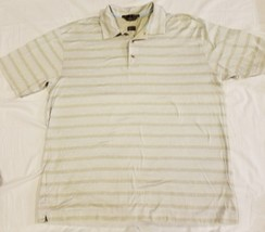 Tiger Woods Nike Golf Striped Polo Mens Size Large Double Mercerized S/S - $22.04