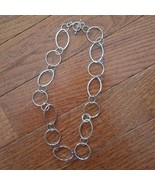 Silver Tone Chain Link Necklace - $4.99