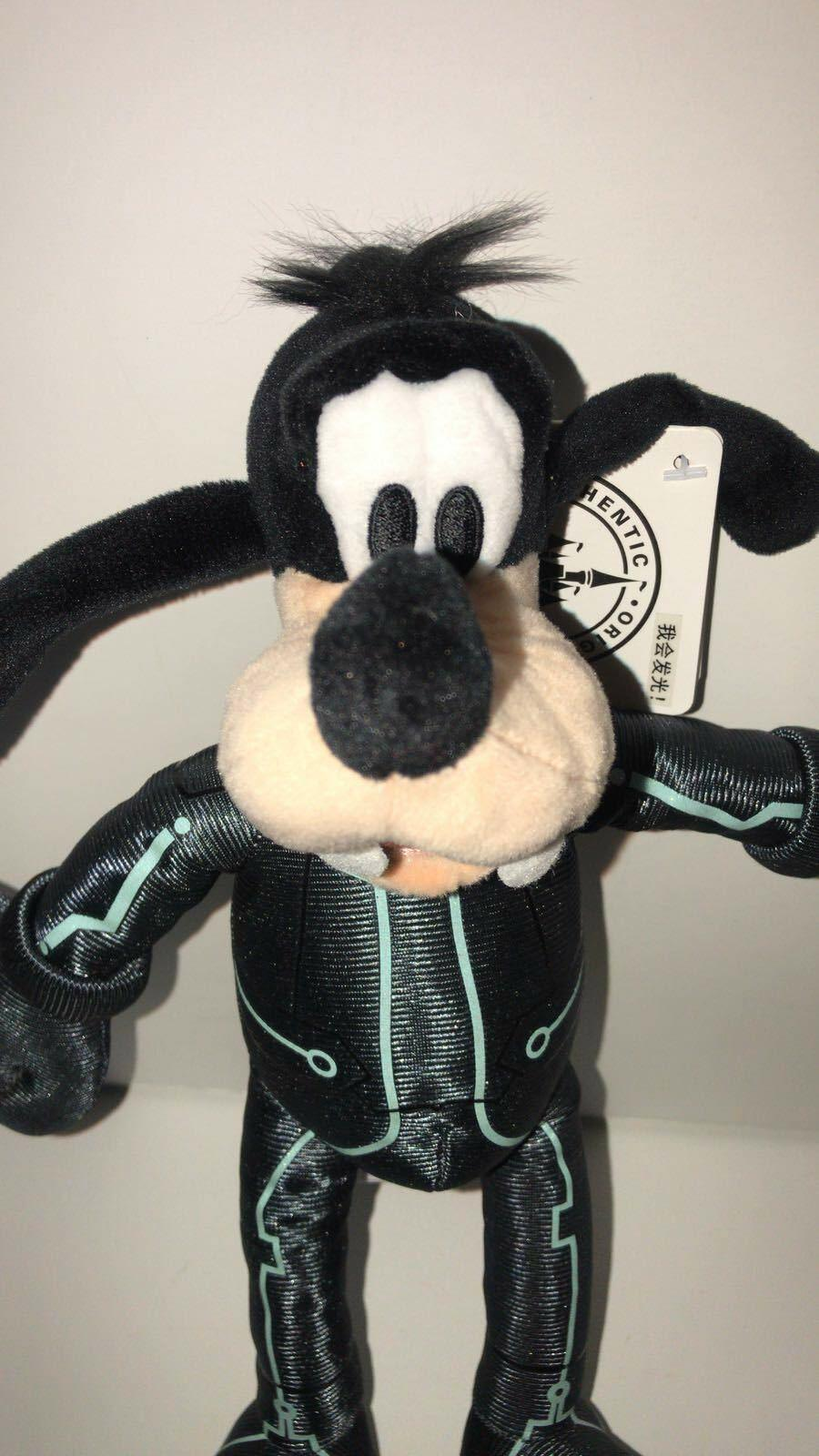 Disney Parks Shanghai Goofy Tron 9in Plush New with Tags