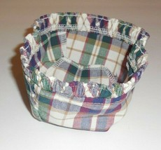 Longaberger Sage Basket Liner ONLY Woven Traditions Plaid New 2767728 - $12.86