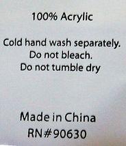 Manual AICWCO Indoor Outdoor Acrylic Throw Blanket Color Cream image 4