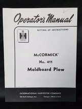 International Harvester Instructions Manual McCormick 411 Moldboard Plow - $18.76