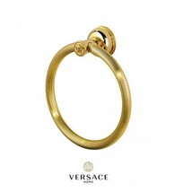 Versace Classic Medusa Gold Towel Ring Holder New Authentic - $1,090.00