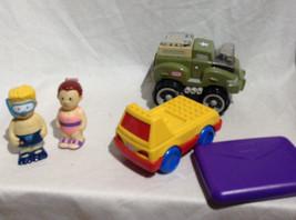 Vintage Little Tikes LOT truck letter army vehicle swim people figures toys - $18.69