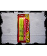 Pack of 3 Chisel Tip Pen Fluorescent Highlighter Marker Drawing Crafts Arts - $2.50