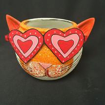 Dept. 56 Cat Head Candle Holder Glitter - £15.03 GBP