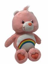 "Care Bear Plush Cheer Bear Pink 8"" Soft Stuffed Animal Rainbow Toy 2003  - $12.99"
