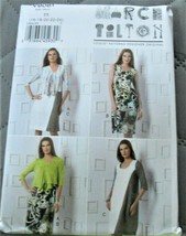 Pattern Vogue Designer Cardigan & Dress March Tilton V9081 Uncut Factory... - $12.76