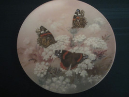 RED ADMIRALS - LENA LIU collector plate ON GOSSAMER WINGS Butterfly - $19.99