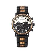 Bobo Bird Men's Steel Wooden Quartz Chronograph Wrist Watch R25-1 - $47.00