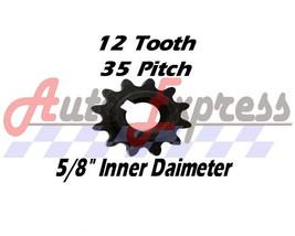 "12 Tooth Sprocket Gear 35 5/8"" Go Kart Fits Comet TAV2 30 For Manco Yerf Dog - $13.25"